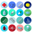 medical icons color flat design vector image