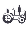 tractor line icon sign on vector image