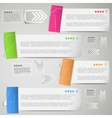 Paper strips for data presentation vector image vector image