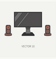 line flat color computer part icon lcd vector image