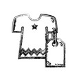 figure clothes with tag to shopping new style vector image