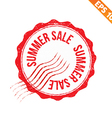 Rubber stamp summer sale - - EPS10 vector image