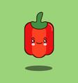 Cute vegetable pepper cartoon character flat vector image