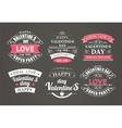 Calligraphic Design Elements Valentines Day vector image vector image