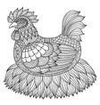 chicken coloring book vector image