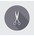 Scissors shears icon Tool for cuting Haircut vector image