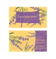 Set invitation cards with flower frame Lavender vector image