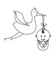 baby delivery crane icon image vector image