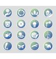 Eco icon set Environment vector image