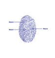 fingerprint match vector image