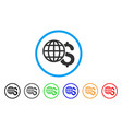 global finances rounded icon vector image