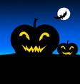Halloween Night and Pumpkin- vector image