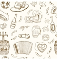 Hand drawn doodle Germany travel seamless pattern vector image