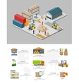 Icon 3d Isometric Process of the Warehouse vector image