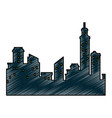 isolated city view vector image