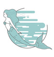 mermaid on the background of water vector image