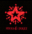 merry bright xmas greeting card vector image
