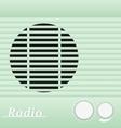 Old blue vintage retro style radio receiver vector image