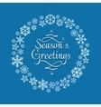 Snowflake wreath for christmas invitation vector image
