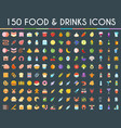 food and drinks big icons set vector image vector image