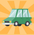 flat green car vehicle type design sedan style vector image