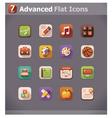 flat school icons vector image vector image
