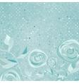 Beautiful retro rose pattern EPS 8 vector image vector image