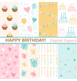 Set of Birthday vector image vector image