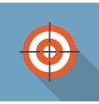 Target Flat Icon with Long Shadow vector image vector image