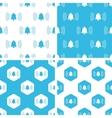 Ringing bell patterns set vector image