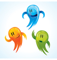 funny mascots vector image vector image