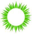 spring grass circle t 01 vector image