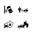 auto safety simple related icons vector image