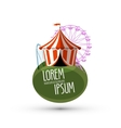 circus logo design template fun or fair icon vector image