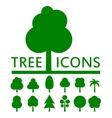concept green tree set vector image
