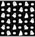 Cute cartoon ghost pattern vector image