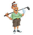 Golfer Man Cartoon vector image