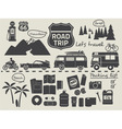 road trip set vector image