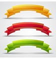 Set of 3 curled ribbons vector image