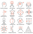 Set of icons related to business management - 21 vector image