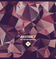 triangle abstract background crumpled foil vector image