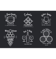 Wine line logo set vector image