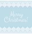 card with white lace winter borders vector image vector image