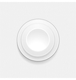 3d white button background vector image