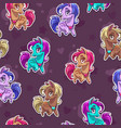 cute seamless pattern with pretty little pony vector image