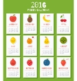 Modern calendar for new 2016 year with funny vector image