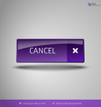 Simple button on the neutral gray background with vector image vector image