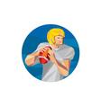 American Football Quarterback QB Low Polygon vector image