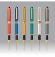 Color pens set vector image