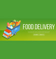 food delivery service banner vector image